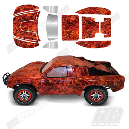 Traxxas full rc decal kit slash 4x4 flames any color rc decals