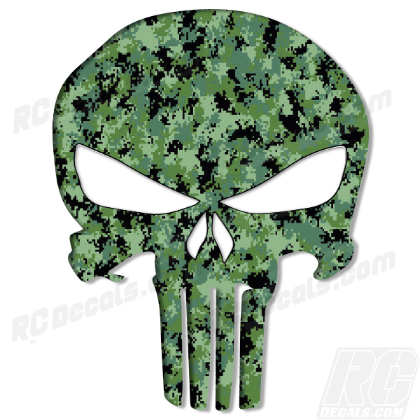 Punisher Decal - Digital Camo Punisher, realtree, real tree, real tree camo, realtree camo, realtree blaze, realtree blaze camo, rc decals, rc, radio controlled, decals, team associated, chassis protector decals, rc cars, rc truck, rc starter wand, rc graphics, rc graphic kits, drone, rc drone, drone decals, traxxas decals, rc stickers, flag decals, radio controlled car stickers, drone stickers, dji stickers, dji decals, losi decals, losi stickers
