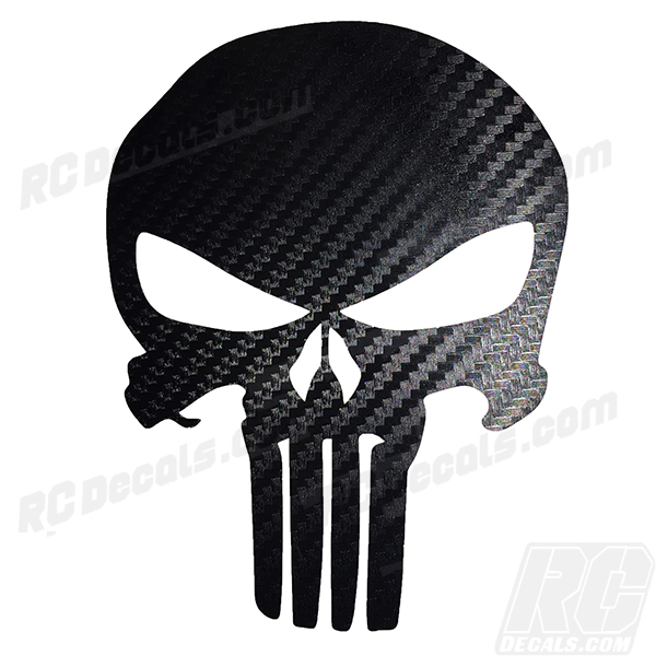 Punisher decal carbon fiber