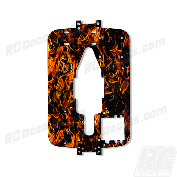 Traxxas T-Maxx 3.3 Standard Chassis Protector Decal-Single - Flames (Any Color!) rc decals, rc, radio controlled, decals, team associated, chassis protector decals, rc cars, rc truck, rc starter wand, rc graphics, rc graphic kits, drone, rc drone, drone decals, traxxas decals, rc stickers, flag decals, radio controlled car stickers, drone stickers, dji stickers, dji decals, losi decals, losi stickers