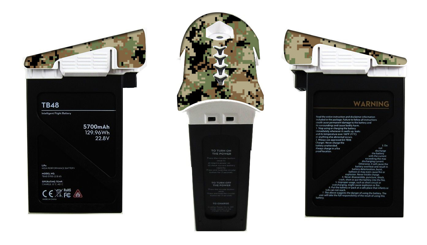 DJI Inspire RC Battery Decal (Pack of 4) - Digital Camo - RC-D-BATT-DIGI-CAMO