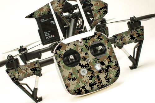 DJI Inspire RC Drone Skin Decal Kit - Digital Camo rc decals, rc, radio controlled, decals, team associated, chassis protector decals, rc cars, rc truck, rc starter wand, rc graphics, rc graphic kits, drone, rc drone, drone decals, traxxas decals, rc stickers, flag decals, radio controlled car stickers, drone stickers, dji stickers, dji decals, losi decals, losi stickers