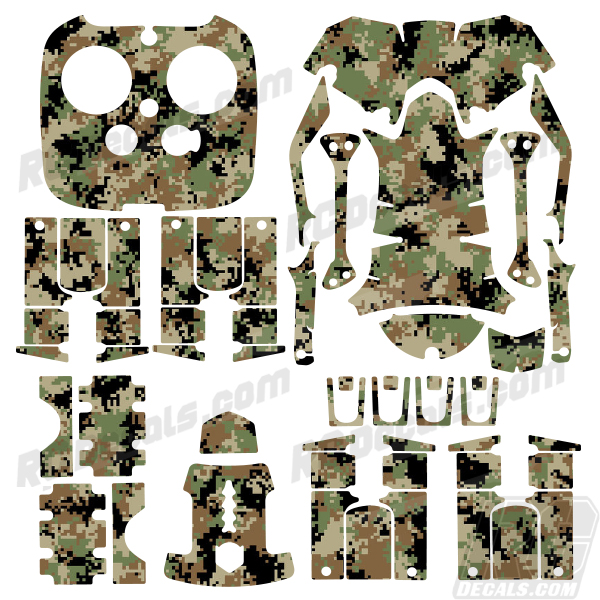 DJI Inspire RC Drone Skin Decal Kit - Digital Camo - RC-D-INS-DIGI-CAM