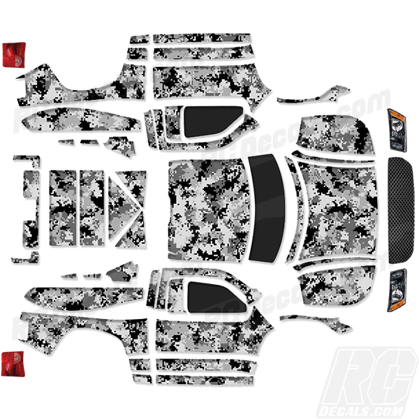 SC Team Associated RC Decal Digital Camo Any Color - Auto decals and graphics