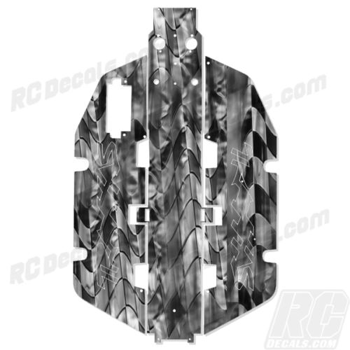 Traxxas Slash 2x2 Chassis Protector Decal RC - Checkered 007 rc decals, rc, radio controlled, realtree blaze camoflauge, decals, team associated, 2wd, 4wd, 2x2, 4x4, chassis protector decals, rc cars, rc truck, rc starter wand, rc graphics, rc graphic kits, drone, rc drone, drone decals, traxxas decals, rc stickers, flag decals, radio controlled car stickers, drone stickers, dji stickers, dji decals, losi decals, losi stickers