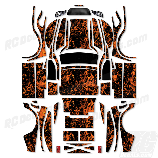 Traxxas Full Decal Kit - Proline Desert Rat - Flames rc decals, rc, radio controlled, decals, team associated, chassis protector decals, rc cars, rc truck, rc starter wand, rc graphics, rc graphic kits, drone, rc drone, drone decals, traxxas decals, rc stickers, flag decals, radio controlled car stickers, drone stickers, dji stickers, dji decals, losi decals, losi stickers