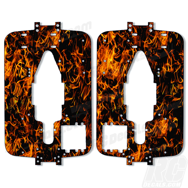 Traxxas T-Maxx 3.3 Standard Chassis Protector Decal-Kit - Flames (Any Color!) rc decals, rc, radio controlled, decals, team associated, chassis protector decals, rc cars, rc truck, rc starter wand, rc graphics, rc graphic kits, drone, rc drone, drone decals, traxxas decals, rc stickers, flag decals, radio controlled car stickers, drone stickers, dji stickers, dji decals, losi decals, losi stickers