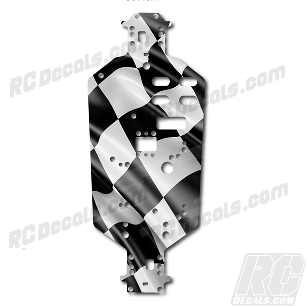 Redcat Volcano Chassis Protector Decal Kit - Checkered Flag redcat racing, redcat, rc decals, rc, radio controlled, decals, team associated, chassis protector decals, rc cars, rc truck, rc starter wand, rc graphics, rc graphic kits, drone, rc drone, drone decals, traxxas decals, rc stickers, flag decals, radio controlled car stickers, drone stickers, dji stickers, dji decals, losi decals, losi stickers