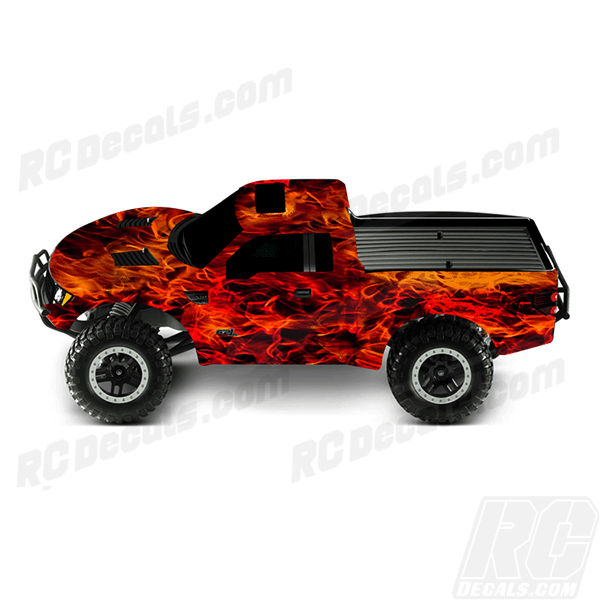 Traxxas Full RC Decal Kit- Raptor F150 - Flames rc decals, rc, radio controlled, decals, team associated, chassis protector decals, rc cars, rc truck, rc starter wand, rc graphics, rc graphic kits, drone, rc drone, drone decals, traxxas decals, rc stickers, flag decals, radio controlled car stickers, drone stickers, dji stickers, dji decals, losi decals, losi stickers