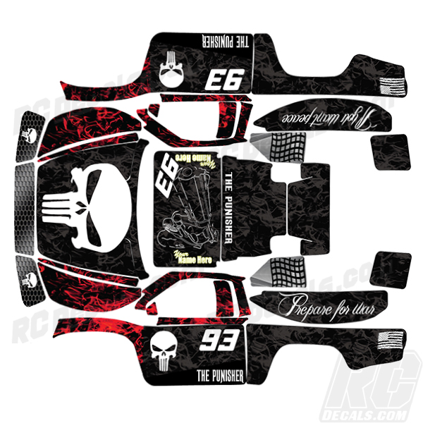 RCDecals com | Traxxas Full RC Decal Kit - Slash 4X4 - Pun - Flm