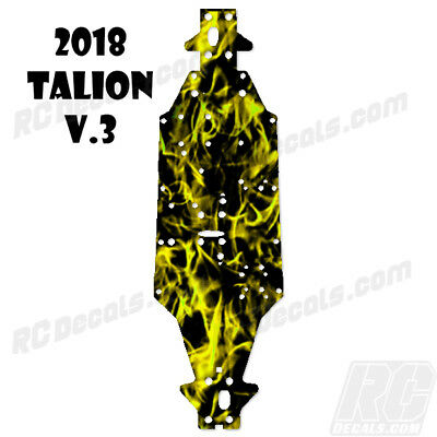 2018 Arrma Talion 6S BLX (V3) Chassis Protector Flames Yellow rc decals, rc, radio controlled, decals, team associated, chassis protector decals, rc cars, rc truck, rc starter wand, rc graphics, rc graphic kits, drone, rc drone, drone decals, traxxas decals, rc stickers, flag decals, radio controlled car stickers, drone stickers, dji stickers, dji decals, losi decals, losi stickers