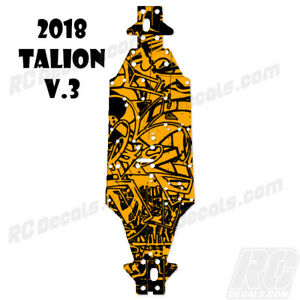 2018 Arrma Talion 6S BLX (V3) Chassis Protector Graffiti Orange rc decals, rc, radio controlled, decals, team associated, chassis protector decals, rc cars, rc truck, rc starter wand, rc graphics, rc graphic kits, drone, rc drone, drone decals, traxxas decals, rc stickers, flag decals, radio controlled car stickers, drone stickers, dji stickers, dji decals, losi decals, losi stickers