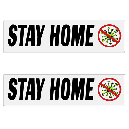"Coronavirus ""Stay Home"" Decal / Bumper Sticker (Set of 2) coronavirus decals, covid-19 decals, rc decals, rc, radio controlled, decals, team associated, chassis protector decals, rc cars, rc truck, rc starter wand, rc graphics, rc graphic kits, drone, rc drone, drone decals, traxxas decals, rc stickers, flag decals, radio controlled car stickers, drone stickers, dji stickers, dji decals, losi decals, losi stickers"