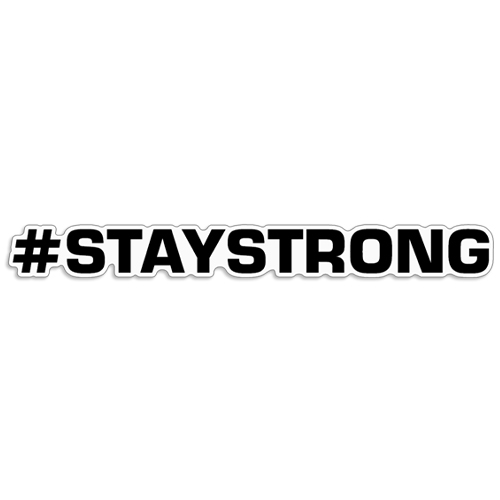 "Hashtag Stay Strong Decal ""#STAYSTRONG""  hashtag, stay strong, coronavirus decals, covid-19 decals, rc decals, rc, radio controlled, decals, team associated, chassis protector decals, rc cars, rc truck, rc starter wand, rc graphics, rc graphic kits, drone, rc drone, drone decals, traxxas decals, rc stickers, flag decals, radio controlled car stickers, drone stickers, dji stickers, dji decals, losi decals, losi stickers"