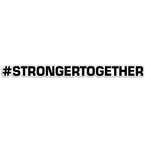 "Hashtag Stronger Together Decal ""#STRONGER TOGETHER hashtag, stronger together, coronavirus decals, covid-19 decals, rc decals, rc, radio controlled, decals, team associated, chassis protector decals, rc cars, rc truck, rc starter wand, rc graphics, rc graphic kits, drone, rc drone, drone decals, traxxas decals, rc stickers, flag decals, radio controlled car stickers, drone stickers, dji stickers, dji decals, losi decals, losi stickers"