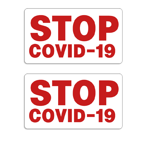 """STOP COVID-19"" Decal / Sticker (Set of 2) coronavirus decals, covid-19 decals, rc decals, rc, radio controlled, decals, team associated, chassis protector decals, rc cars, rc truck, rc starter wand, rc graphics, rc graphic kits, drone, rc drone, drone decals, traxxas decals, rc stickers, flag decals, radio controlled car stickers, drone stickers, dji stickers, dji decals, losi decals, losi stickers"