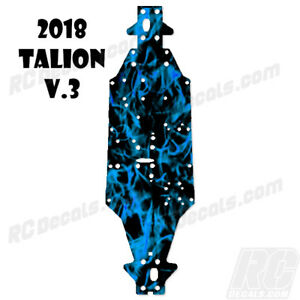 2018 Arrma Talion 6S BLX (V3) Chassis Protector Flames Blue rc decals, rc, radio controlled, decals, team associated, chassis protector decals, rc cars, rc truck, rc starter wand, rc graphics, rc graphic kits, drone, rc drone, drone decals, traxxas decals, rc stickers, flag decals, radio controlled car stickers, drone stickers, dji stickers, dji decals, losi decals, losi stickers
