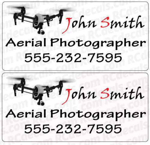 Custom Vehicle Sign for Drone/Vehicle Aerial Photography (Set of 2)