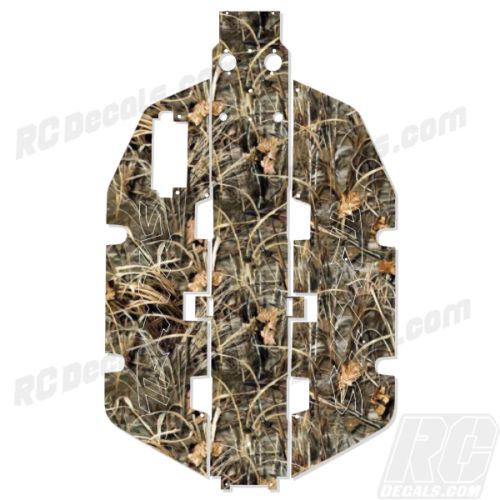 Traxxas Slash 2x2 Chassis Protector Decal RC - Max4 Realtree Camo rc decals, rc, radio controlled, realtree blaze camoflauge, decals, team associated, 2wd, 4wd, 2x2, 4x4, chassis protector decals, rc cars, rc truck, rc starter wand, rc graphics, rc graphic kits, drone, rc drone, drone decals, traxxas decals, rc stickers, flag decals, radio controlled car stickers, drone stickers, dji stickers, dji decals, losi decals, losi stickers