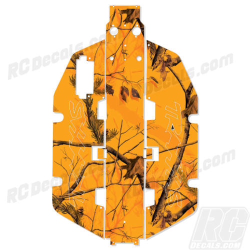 Traxxas Slash 2x2 Chassis Protector Decal RC - Realtree Blaze Camo (Multiple Colors Available!) rc decals, rc, radio controlled, realtree blaze camoflauge, decals, team associated, 2wd, 4wd, 2x2, 4x4, chassis protector decals, rc cars, rc truck, rc starter wand, rc graphics, rc graphic kits, drone, rc drone, drone decals, traxxas decals, rc stickers, flag decals, radio controlled car stickers, drone stickers, dji stickers, dji decals, losi decals, losi stickers