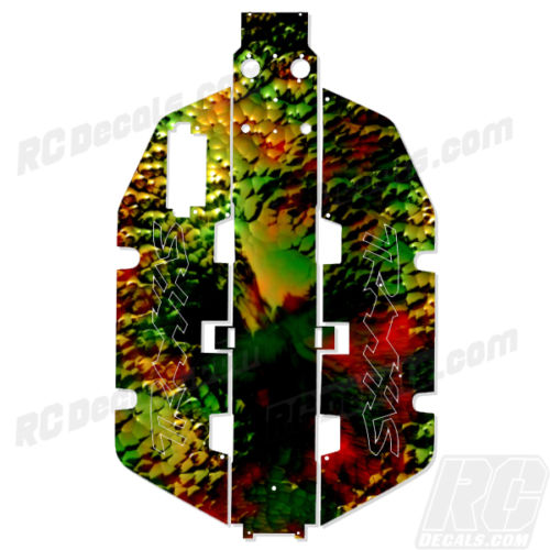 Traxxas Slash 2x2 Chassis Protector Decal RC - Chameleon rc decals, rc, radio controlled, realtree blaze camoflauge, decals, team associated, 2wd, 4wd, 2x2, 4x4, chassis protector decals, rc cars, rc truck, rc starter wand, rc graphics, rc graphic kits, drone, rc drone, drone decals, traxxas decals, rc stickers, flag decals, radio controlled car stickers, drone stickers, dji stickers, dji decals, losi decals, losi stickers